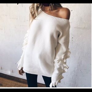 Ruffled Sweater Top